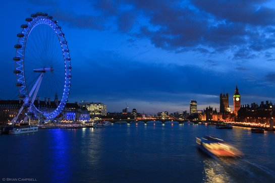 London eye and Palace of Westminster