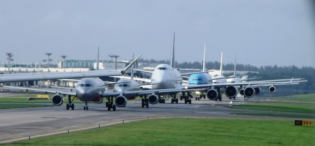 Aircraft queuing
