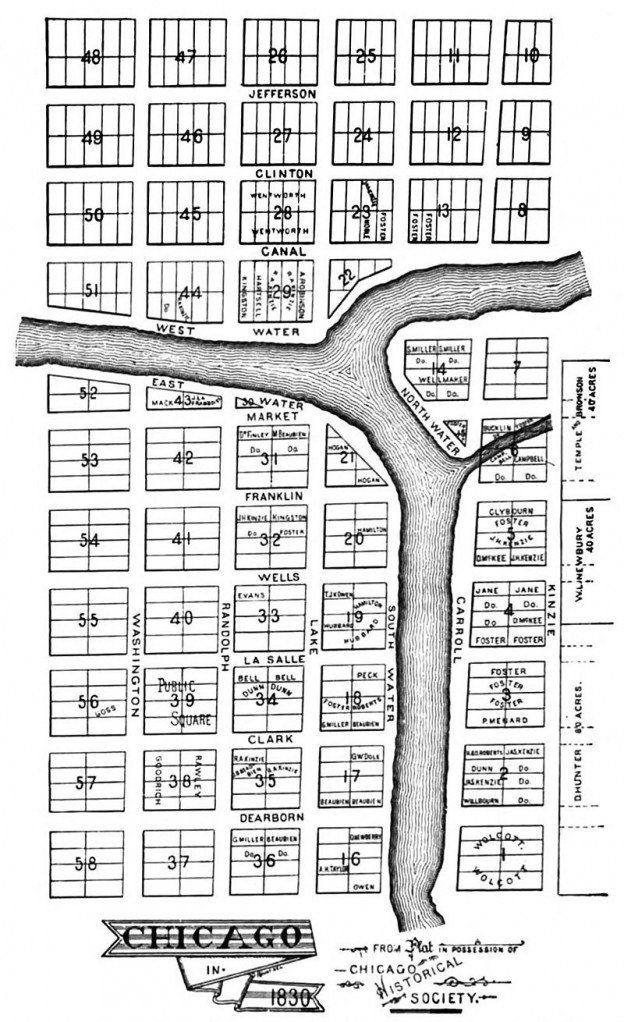 Thompson Chicago Plat 1830
