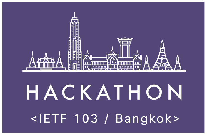 IETF Hackathon Bangkok laptop sticker