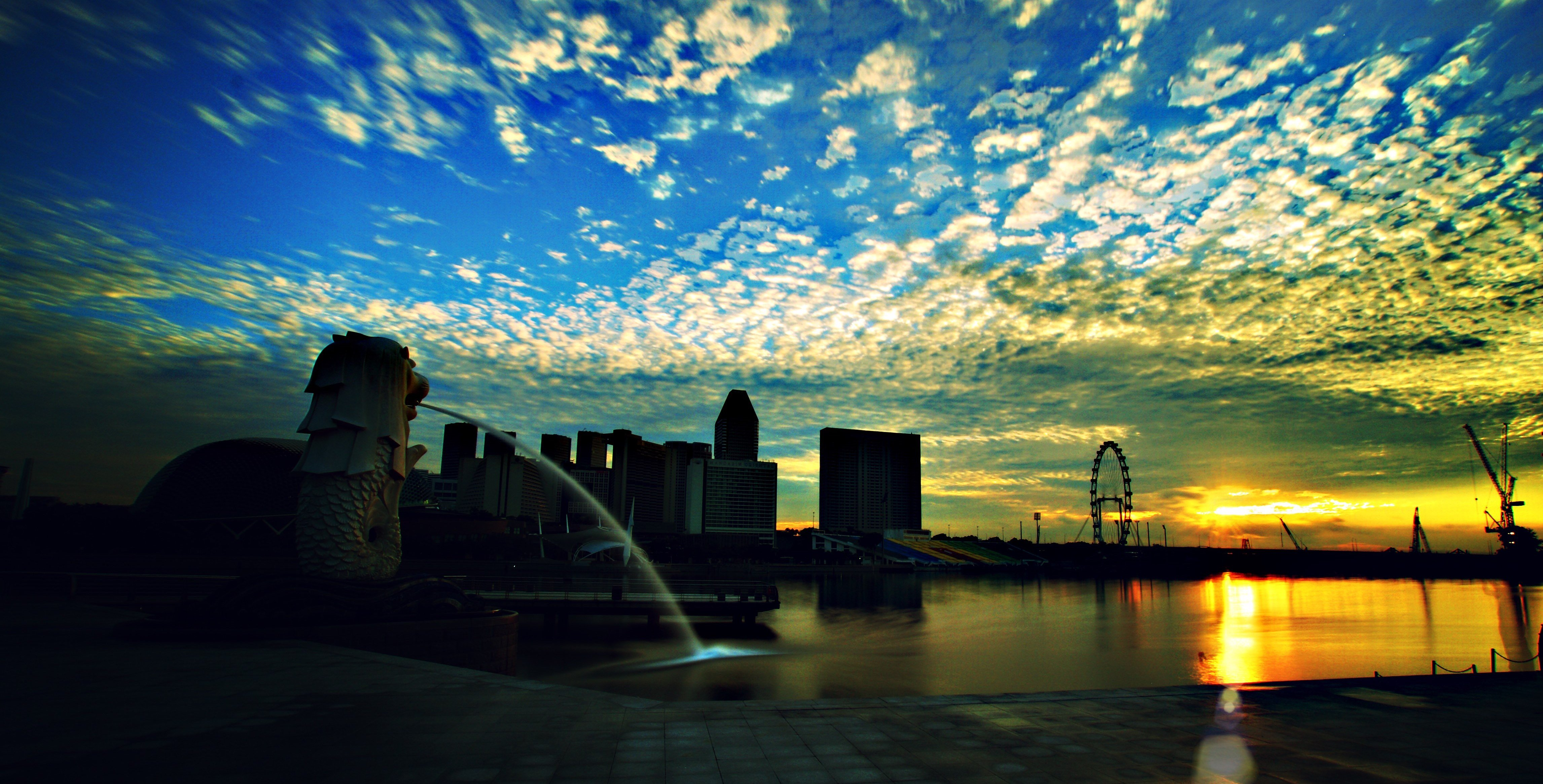 Singapore at sunrise.